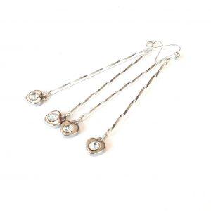 glass-hjerte-sølv-øreanheng-ørepynt