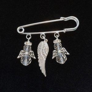 sølv-engel-nål-brosje