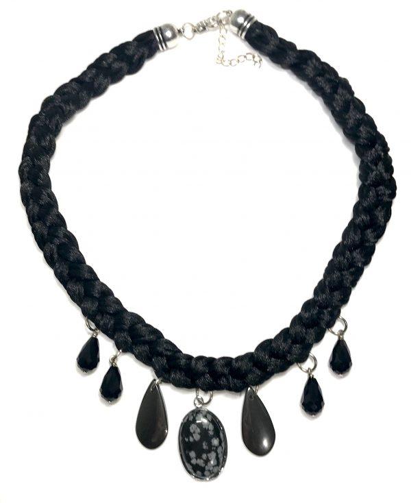 sort-blodstein-snowflake-obsidian-smykke