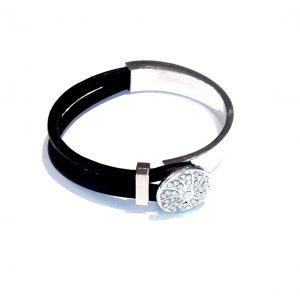 sort-lammeskinn-bling-elegant-armbånd