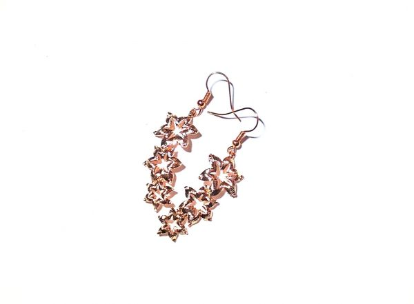 rosegull-blomst-øreanheng-ørepynt