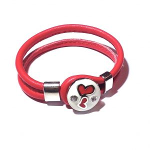 rød-lammeskinn-hjerte-armbånd