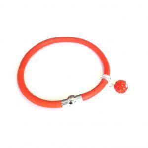 orange-lammeskinn-bling-glitter-armbånd