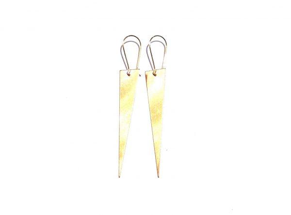 gull-trekant-spiss-pil-gull-ørepynt-øreanheng