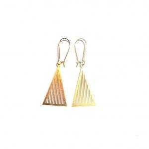 gull-geometrisk-trekant-øreanheng-ørepynt