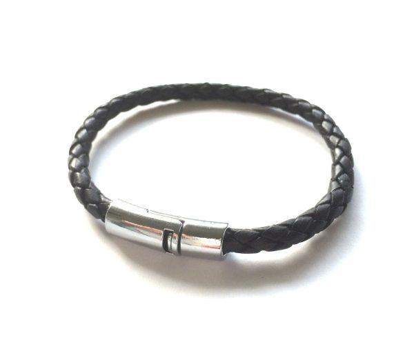 bolo-sort-herre-lær-armbånd
