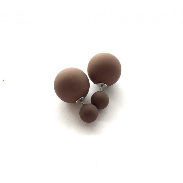 brun-doble-øredobber-ørepynt