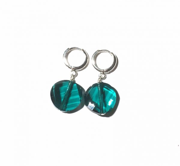 grønn-glass-ørepynt-øreanheng