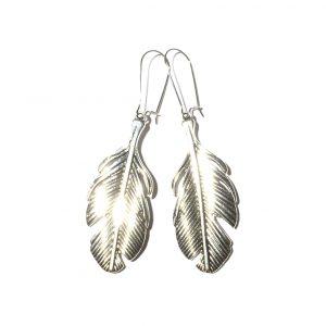 metall-fjær-øreanheng-ørepynt