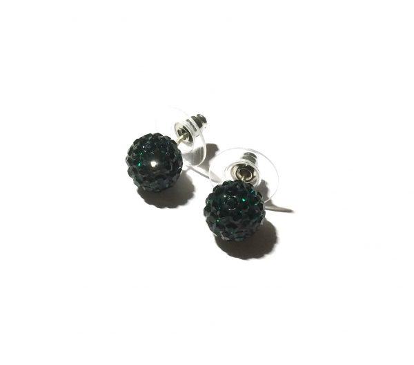 grønn-glitter-øredobb-ørepynt