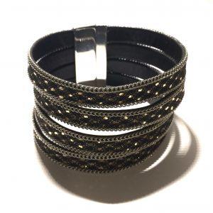 kraftig-sort-gull-armbånd