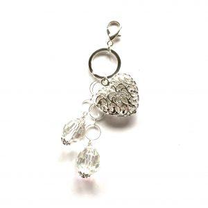 blank-glass-hjerte-sølv-nøkkelring