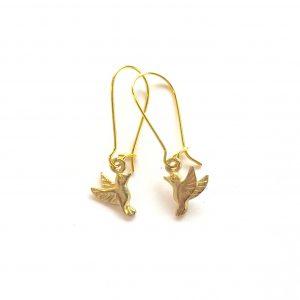 gull-kolibri-fugl-øreanheng-ørepynt