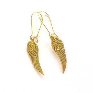 gull-vinge-jul-engel-øreanheng-ørepynt