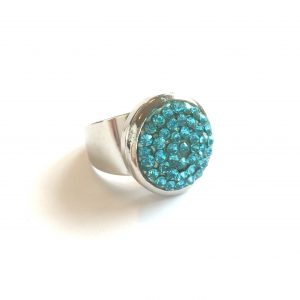 blå-turkis-glitter-justerbar-onesize-ring