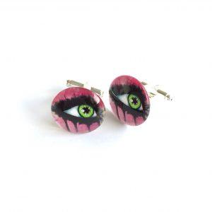 rosa-morsom-øye-mansjettknapper
