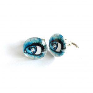 blå-morsom-øye-mansjettknapper