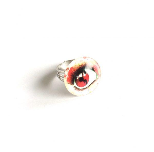 morsom-rød-øye-justerbar-onesize-ring