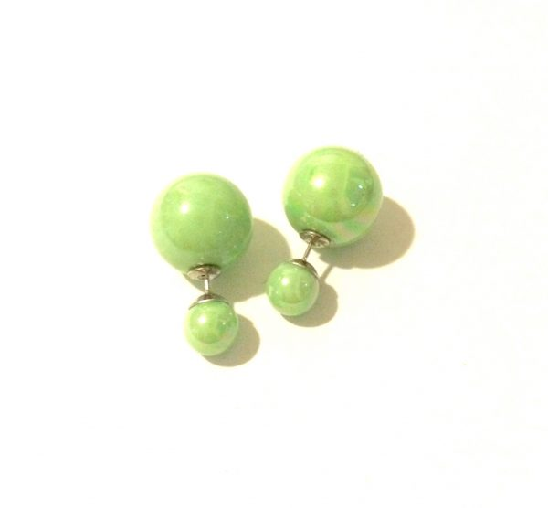 grønn-debbel-ørepynt-øredobber-stor-kule-bak