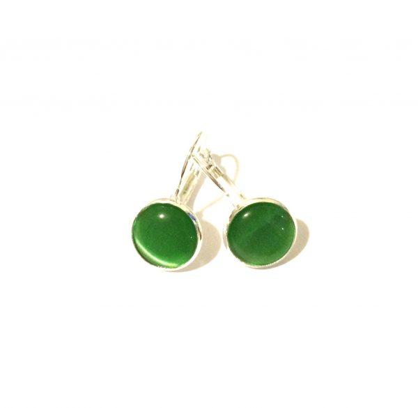 grønn-sølv-øreanheng-ørepynt