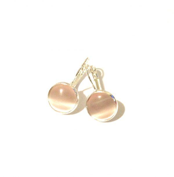 rosa-sølv-øreanheng-ørepynt