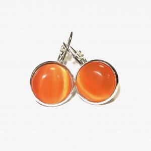 orange-sølv-øreanheng-ørepynt