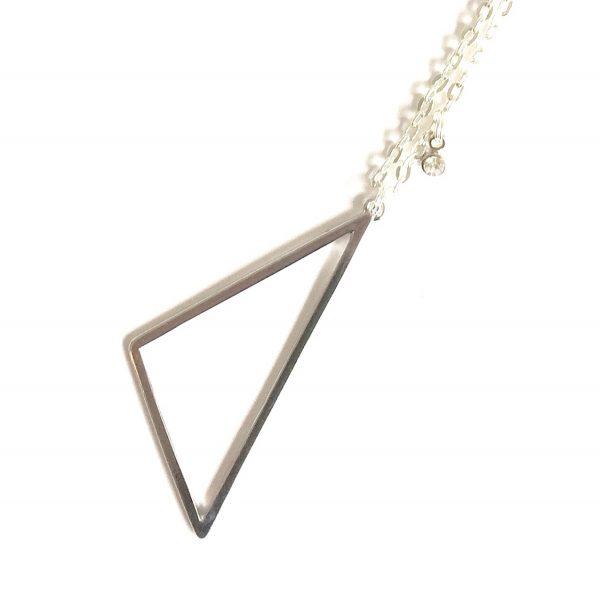 sølv-trekant-smykke-halskjede