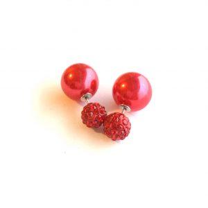 rød-doble-øredobber-stor-kule-bak-ørepynt