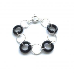 sort-sølv-armbånd