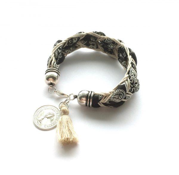 sort-bohem-dusk-mynt-armbånd