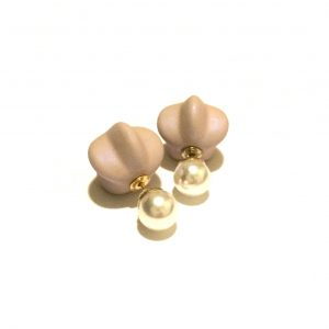rosa-perle-doble-øredobber-ørepynt