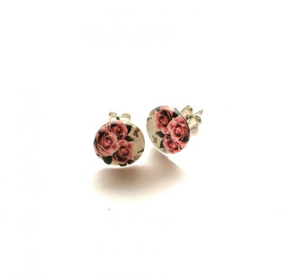 hvit-rosa-rose-blomst-sommer-søt-øredobber-ørepynt