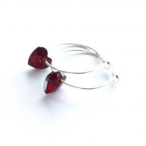 rød-hjerte-øreringer-ørepynt