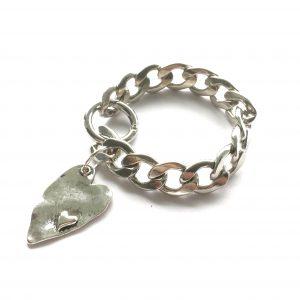 kraftig-hjerte-sølv-armbånd