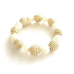 hvit-gull-elastisk-armbånd