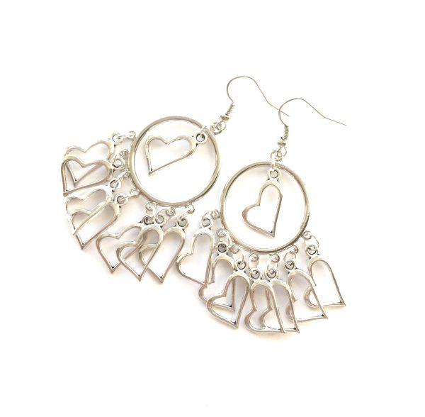 hjerte-sølv-øreanheng-ørepynt