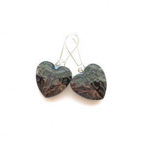 sort-hjerte-blodstein-hematitt-øreanheng-ørepynt