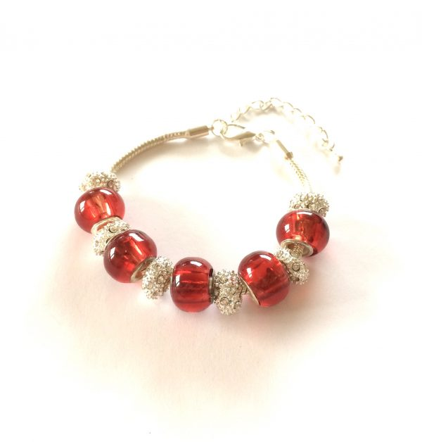 rød-glass-jul-armbånd