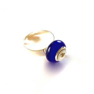 blå-glass-sølv-justerbvar-onesize-ring