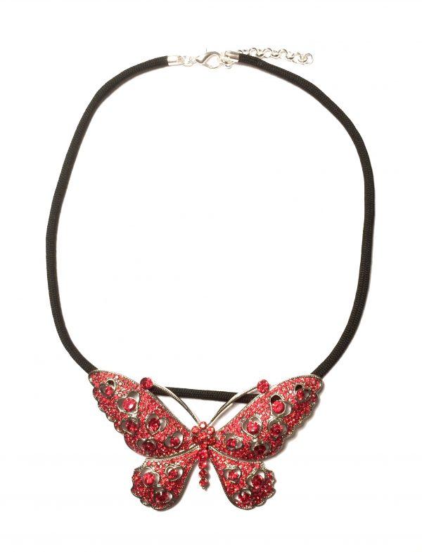 rød-sølv-sommerfugl-paracord-smykke