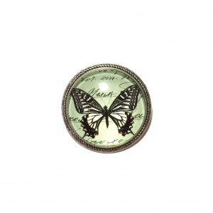 grønn-turkis-sommerfugl-brosje-nål