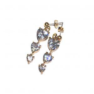 gull-romantisk-zirkonia-hjerte-øreanheng-ørepynt