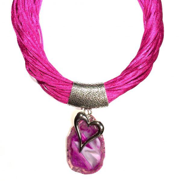 rosa-agat-hjerte-statement-smykke