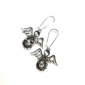 engel-sølv-ørepynt-øreanheng