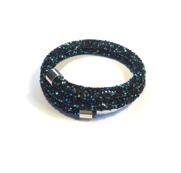 glitter-blå-onesize-armbånd