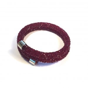 glitter-rød-onesize-armbånd
