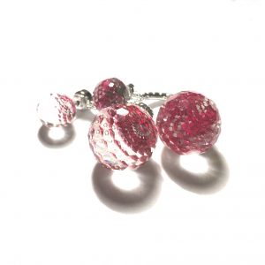 rosa-doble-ørepynt-øreobber