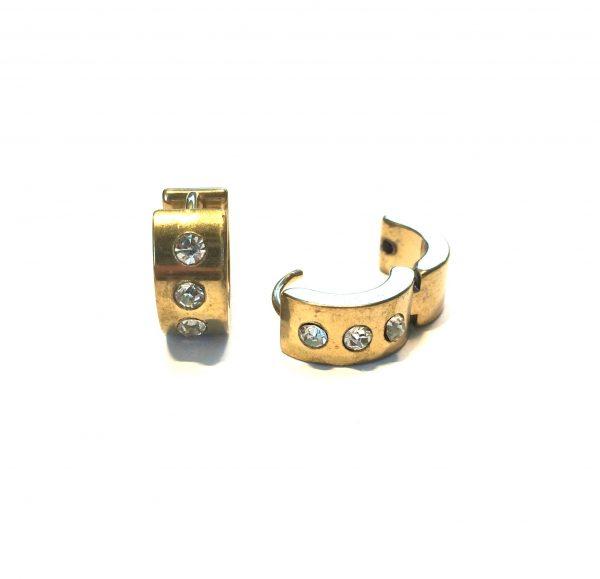 gull-stål-chubby-øreringer-ørepynt