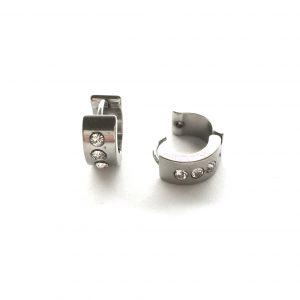 sølv-stål-chubby-øreringer-ørepynt