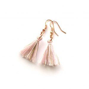rosa-dusk-tassel-rosegull-øreanheng-ørepynt